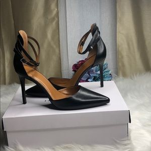 H by Halston Ankle strap point toe heels